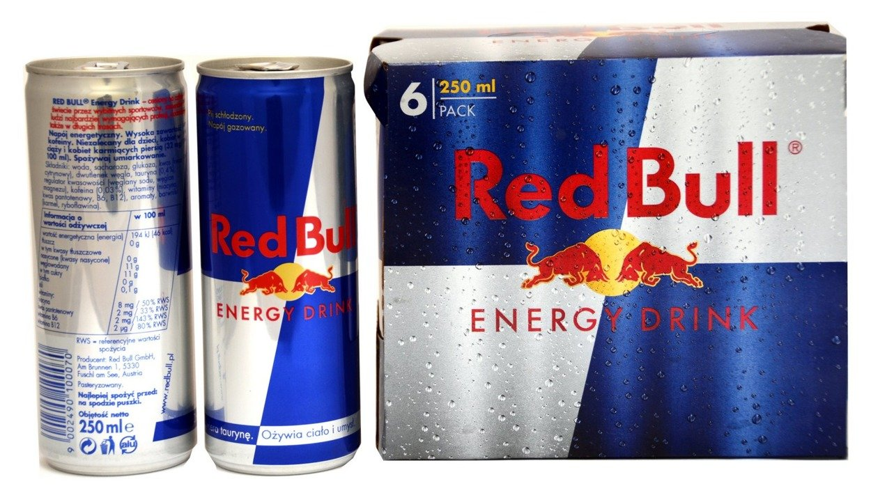red bull can 250 ml 6 pack polish energetic drinks